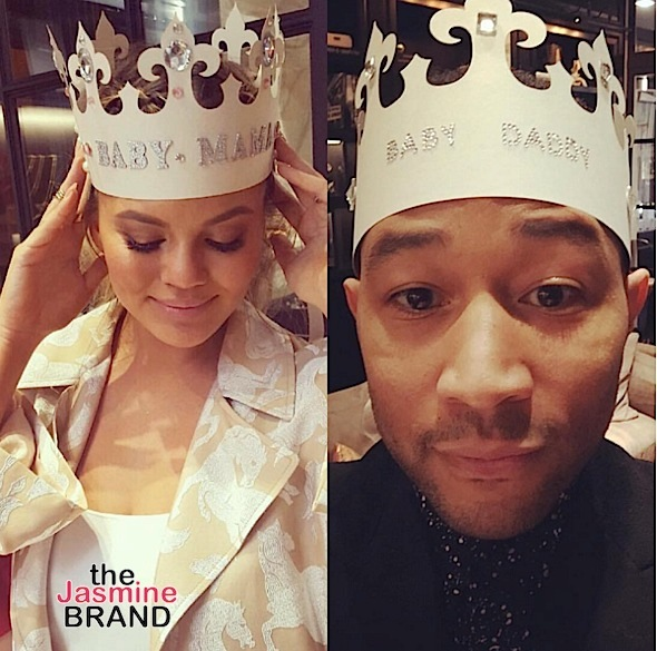 Chrissy Teigen & John Legend Celebrate Baby Shower [Photos]