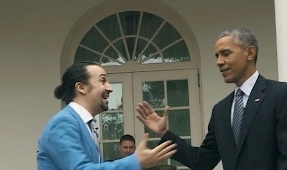 Watch President Obama Assist Lin-Manuel Miranda's Freestyle [VIDEO]