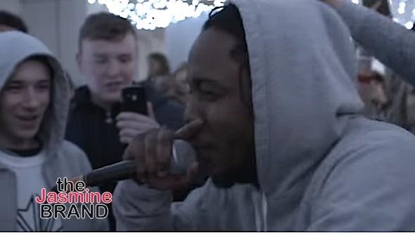 Kendrick Lamar Surprises Rappers, Jumps In Cypher [VIDEO]