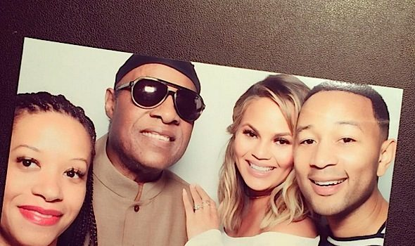 Stevie Wonder, Kanye West, Kim Kardashian Spotted At Chrissy Teigen's West Coast Baby Shower [Photos]
