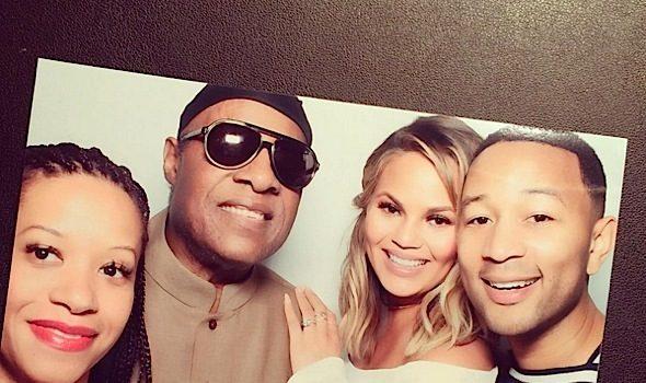 Stevie Wonder, Kanye West, Kim Kardashian Spotted At Chrissy Teigen's West Coast Baby Shower [Photos]