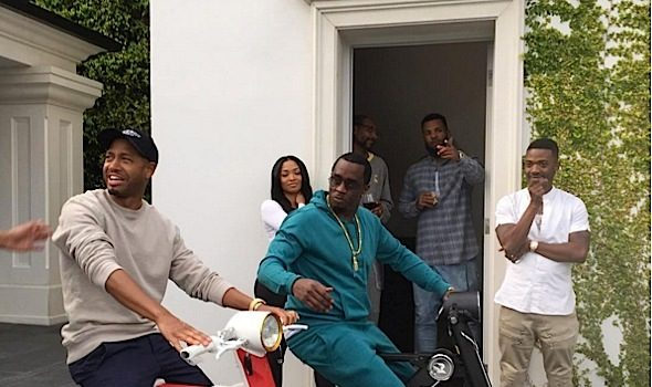 Diddy Celebrates Easter With Cassie, Nas, Ray J, Snoop & Terrence J [VIDEO]