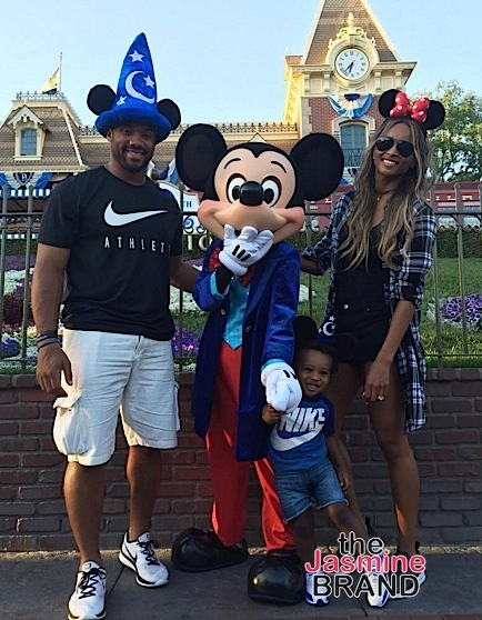 Ciara & Russell Wilson Take Baby Future to Disney Land [Photos]
