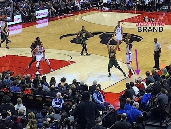 amber rose-raptors game-the jasmine brand