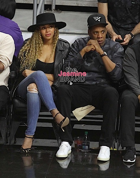 Jay Z and Beyonce' out at the Clippers game.The Los Angeles Clippers defeated the Oklahoma City Thunder by the final score of 103-98 at Staples Center.