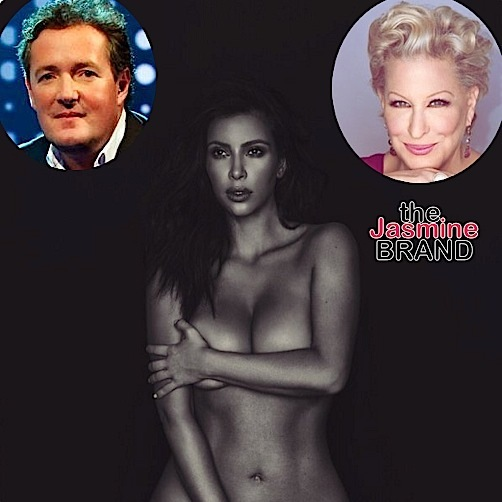 Kim Kardashian Posts MORE Nudes + Pops-Off On Bette Midler & Piers Morgan