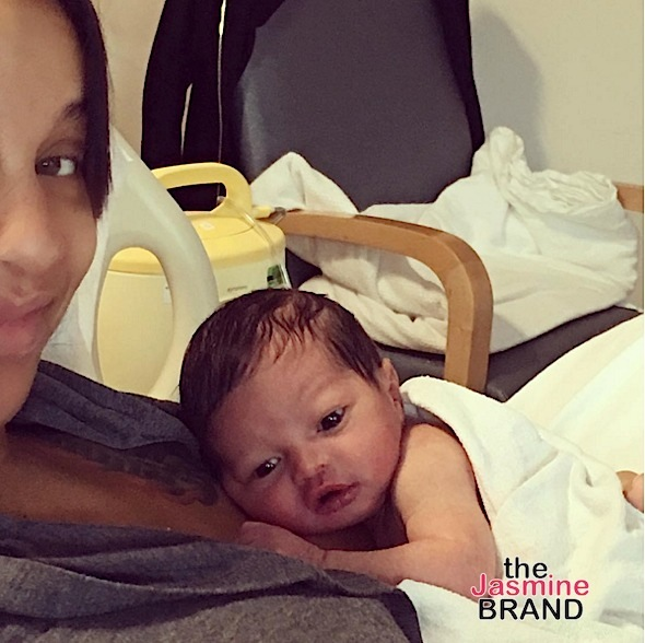 NeYo & Wife Debut Newborn Son, Shaffer [Photos]