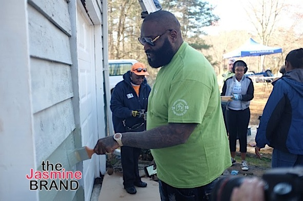 Rick Ross painting Steve Jacobs home