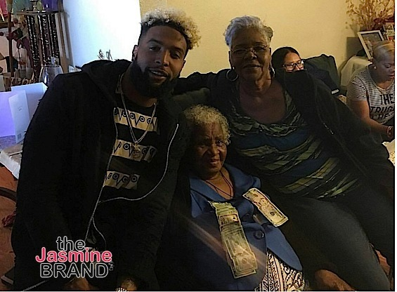 Odell Beckham Jr with Grandmother