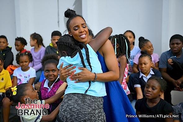 Kelly Rowland Visits Boys & Girls Club in Atlanta [Photos]
