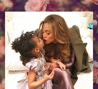 Beyonce Spends Anniversary With Blue, Jay & A Bed of Roses [Photos]