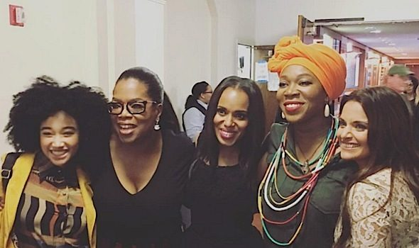 Kerry Washington, India Arie, Amandla Stenberg Spotted at Oprah's Super Soul Sessions [Photos]
