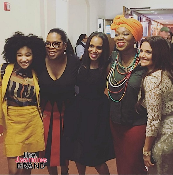 Amandla Stenberg, Oprah, Kerry Washington, India Arie, Dr. Shefali Tsabary