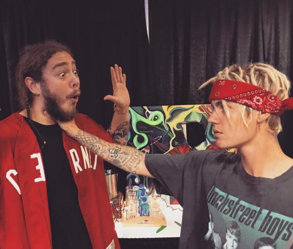 Post Malone Denies Choking Justin Bieber [VIDEO]