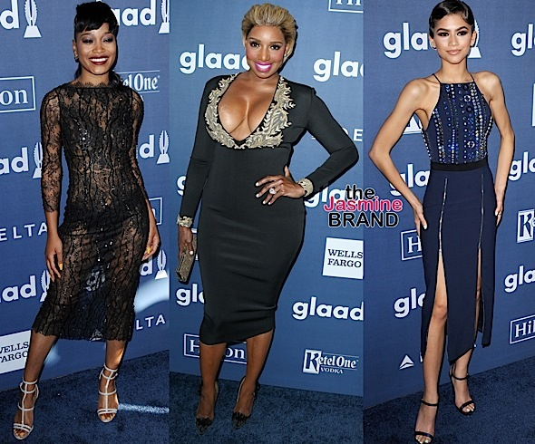 NeNe Leakes, Zendaya, Kat Graham, Garcelle Beauvais, Keke Palmer Hit the GLAAD Red Carpet
