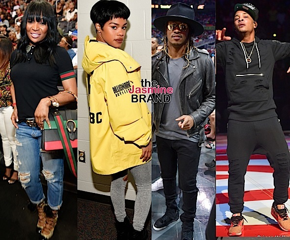 T.I., Teyana Taylor, Future, Marlo Hampton, Kyrie Irving, Lebron James Spotted at Hawks Game [Photos]