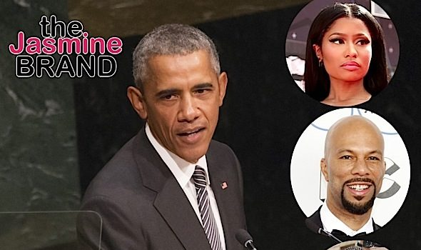Alicia Keys, Nicki Minaj, Busta Rhymes, Common, Janelle Monae Meet With President Obama