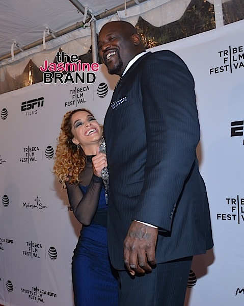 "Shaquille O'Neal and his rumored fiancee at the Tribeca Film Festival - ""30 for 30: This Magic Moment"" Premiere."
