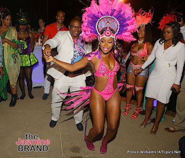 Reality Star Quad Webb-Lunceford Throws Carnival Themed Birthday Bash