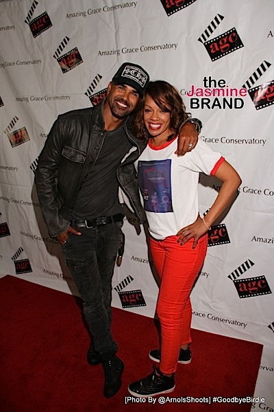 Shemar Moore and Wendy Raquel Robinson