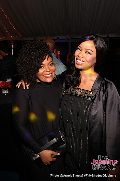 BELL AIR, CA - MAY 22: Actors Yvette Nicole Brown and Jill Jones seen at Johnny Gill's 50TH Birthday Party on Sunday May 22, 2016 at a private residence in Bell Air, CA. (Photo by Arnold Turner/ATA)