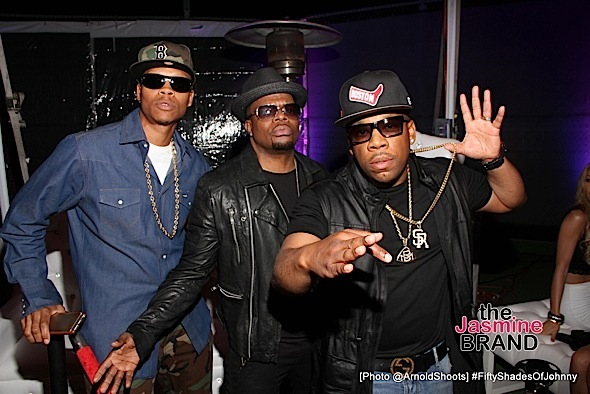 BELL AIR, CA - MAY 22: Ron DeVoe, Ricky Bell and Michael Bivins seen at Johnny Gill's 50TH Birthday Party on Sunday May 22, 2016 at a private residence in Bell Air, CA. (Photo by Arnold Turner/ATA)