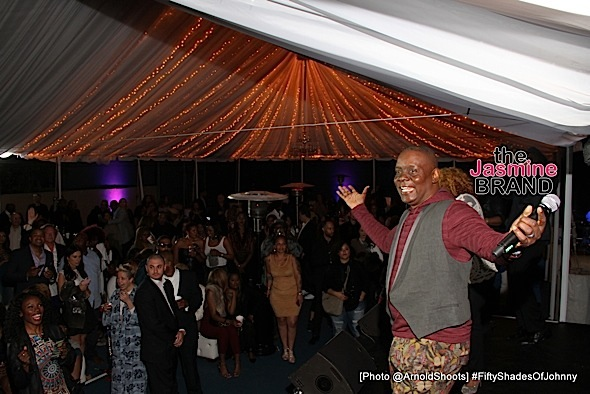 BELL AIR, CA - MAY 22: Phillip Bailey (Earth Wind & Fire) l seen performing at Johnny Gill's 50TH Birthday Party on Sunday May 22, 2016 at a private residence in Bell Air, CA. (Photo by Arnold Turner/ATA)
