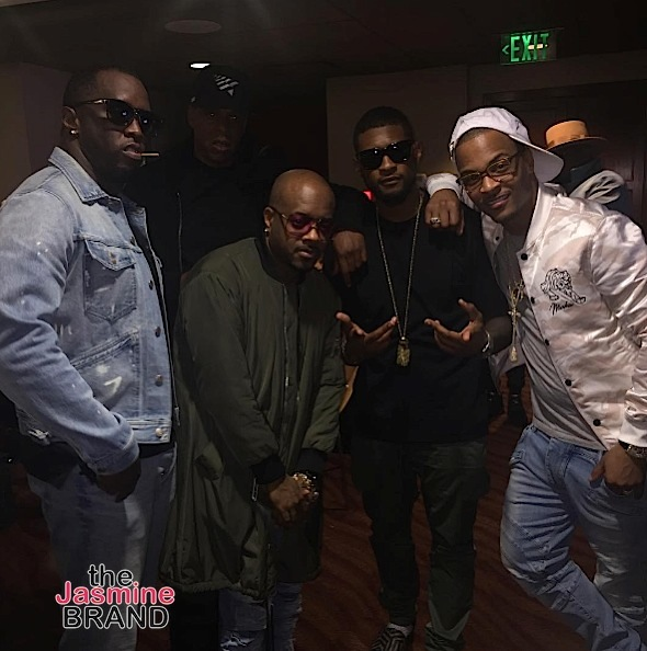 Usher, Diddy, Jermaine Dupri, T.I. & Tiny, Kandi Burruss Attend Beyonce's 'Formation' Tour in ATL [Photos]
