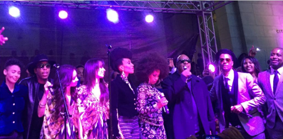 Celebs Turn-Up for Prince Tribute: Stevie Wonder, Faith Evans, Eric Benet, B. Slade [VIDEO]