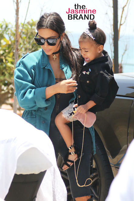 Kim Kardashian, Kanye West & North have lunch at Nobu with Chrissy Teigen, John Legend and Luna Pictured: Kim Kardashian, North West Ref: SPL1292698 290516 Picture by: LA Photo Lab / Splash News Splash News and Pictures Los Angeles: 310-821-2666 New York: 212-619-2666 London: 870-934-2666 photodesk@splashnews.com