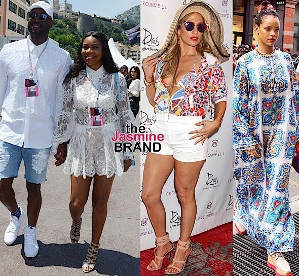 Dwyane Wade, Gabrielle Union, J.Lo, Rihanna
