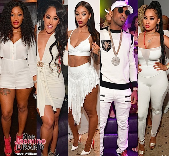 Erica Dixon, Natalie Nunn, Bambi, Fabolous, Tammy Rivera Hit ATL White Party [Photos]