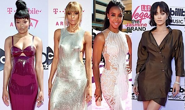 Billboard Music Awards Red Carpet: Keke Palmer, Ciara, Kelly Rowland, Rihanna, Ludacris, Laverne Cox, Russell Wilson [Fashion Details]