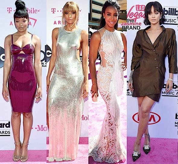 Billboard Music Awards Red Carpet: Keke Palmer, Ciara, Kelly Rowland, Rihanna, Ludacris, Laverne Cox, Russell Wilson [Fashion Details]