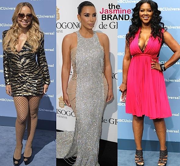 Mariah Carey, Kim Kardashian, Kenya Moore