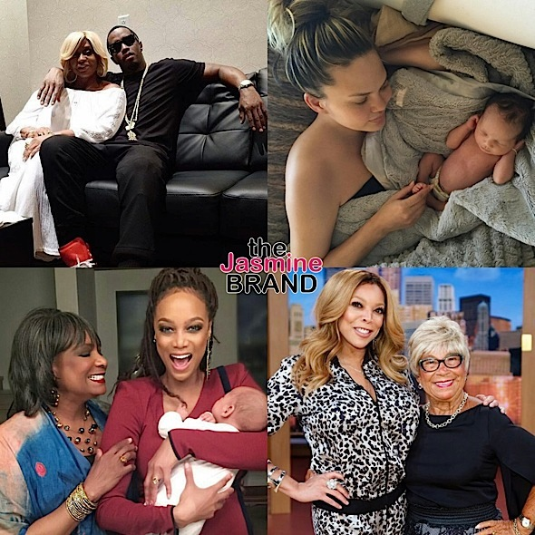 Celebrity Mother's Day Photos: Tyra Banks, Chrissy Teigen, Nicki Minaj, Niecy Nash, Wendy Williams, Kandi Burruss, Solange Knowles, Meek Mill, Rob Kardashian