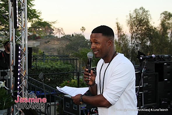 LOS ANGELES, CA - JUNE 16: _ _ _ seen at 15th Annual Juneteenth Celebration with Special Tribute to Prince on Thursday, June 16, 2016 at the Quarles Estate in Los Angeles, California. (Photo by @ATurnerArchives)