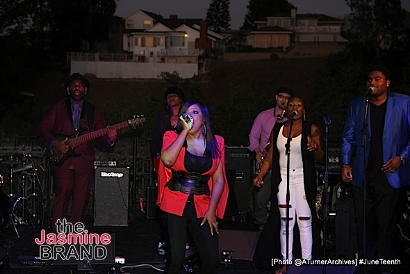 LOS ANGELES, CA - JUNE 16: Shanice Wilson performs at 15th Annual Juneteenth Celebration with Special Tribute to Prince on Thursday, June 16, 2016 at the Quarles Estate in Los Angeles, California. (Photo by @ATurnerArchives)