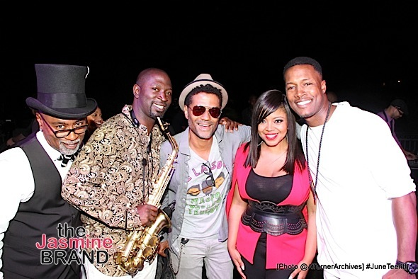 Kipper Jones, Mike Phillips, Eric Benét, Shanice Wilson and actor Flex Alexander