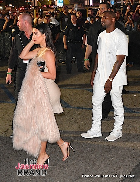 Kim Kardashan & Kanye West Arrive At the Forum [Photos]