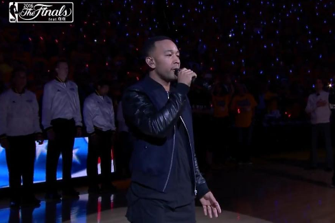 John Legend Performs 'National Anthem' At NBA Finals [VIDEO]