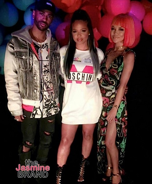 Big Sean, Christina Milian, Jhene Aiko are spotted at the Moschino show.