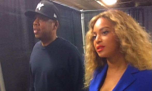 Beyonce & Jay Z Court-Side At NBA Finals: Fan Touches Bey's Hair + Teyana Taylor's Adorable Daughter With Jigga [Photos]