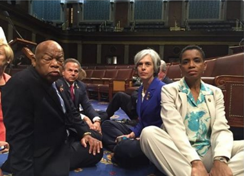 Rep. John Lewis Stages Sit In, Takes Action on Guns #NoBillNoBreak [VIDEO]