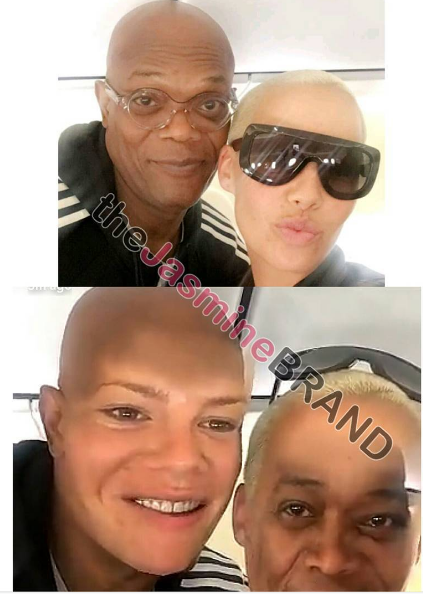 Amber Rose & Samuel L. Jackson Swap Faces, Baby Future & Baby Titan's Cute Playdate + Vivica Fox, Tatyana Ali [Photos]