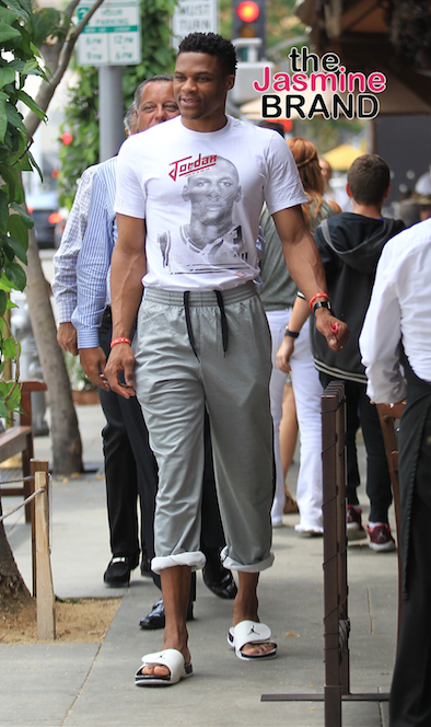 Russell Westbrook at Il Pastaio in Beverly Hills.