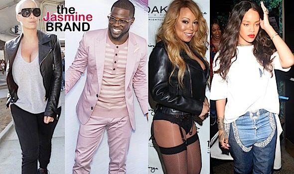 Amber Rose, Kevin Hart, Mariah Carey, Rihanna, Tiny Harris, Kelly Rowland [Spotted. Stalked. Scene.]
