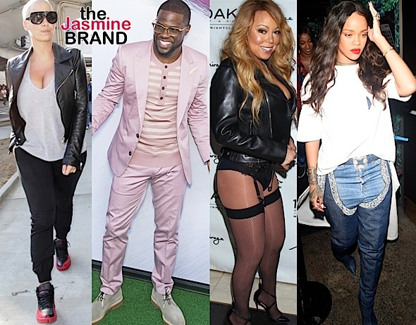 Amber Rose, Kevin Hart, Mariah Carey, Rihanna, Tiny Harris, Kelly Rowland [Spotted. Stalked. Scene.]