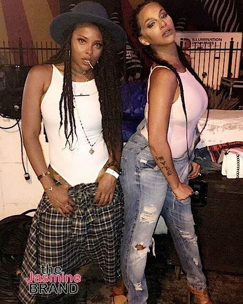 Eva Marcille and Crystal Renay party during LA Pride.