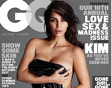 Almost Nude! See Kim Kardashian's GQ Invasion [Photos]